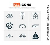 shipping icons set. collection... | Shutterstock .eps vector #653359759