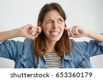 stop making this annoying sound ... | Shutterstock . vector #653360179