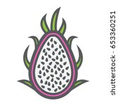 pitaya line icon  dragon fruit... | Shutterstock .eps vector #653360251