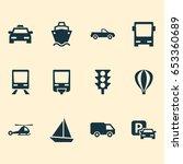 transportation icons set.... | Shutterstock .eps vector #653360689