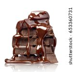 close up of chocolate pieces... | Shutterstock . vector #653360731