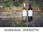 wine label mockup | Shutterstock . vector #653362714
