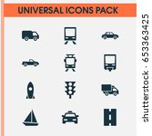shipment icons set. collection... | Shutterstock .eps vector #653363425