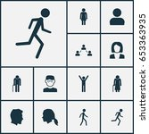 human icons set. collection of... | Shutterstock .eps vector #653363935
