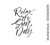 Relax It\'s Sunday Postcard. In...
