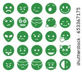 emoticon icons set. set of 25...   Shutterstock .eps vector #653367175