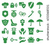 protect icons set. set of 25...   Shutterstock .eps vector #653368531