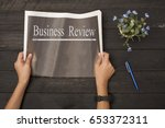 newspaper | Shutterstock . vector #653372311