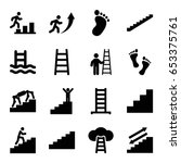 step icons set. set of 16 step... | Shutterstock .eps vector #653375761