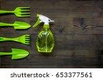 gardening equipment with spray