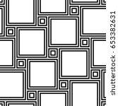 pythagorean tiling. seamless... | Shutterstock .eps vector #653382631