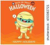 vintage halloween poster design ... | Shutterstock .eps vector #653382721