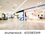 blurred background of modern... | Shutterstock . vector #653385349