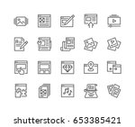 simple set of web content... | Shutterstock .eps vector #653385421