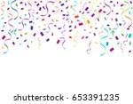many falling colorful tiny... | Shutterstock .eps vector #653391235