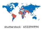 world map in colour.... | Shutterstock .eps vector #653394994