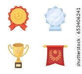 an olympic medal for the first... | Shutterstock .eps vector #653406241