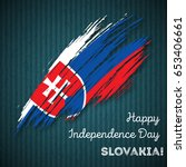 slovakia independence day...   Shutterstock .eps vector #653406661