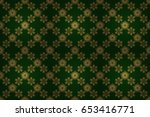 luxury floral seamless pattern  ... | Shutterstock . vector #653416771