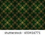luxury floral seamless pattern  ... | Shutterstock . vector #653416771