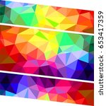 geometric colorful background | Shutterstock .eps vector #653417359