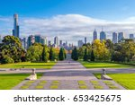 Skyline Of Melbourne In...