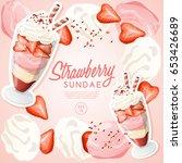 ice cream sundae set  ... | Shutterstock .eps vector #653426689