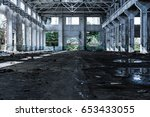 Interior Of Old Factory...
