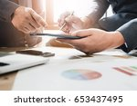 young business man and partner...   Shutterstock . vector #653437495