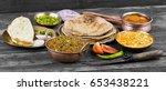 indian cuisine sev tamatar also ... | Shutterstock . vector #653438221