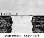leadership bridge business... | Shutterstock . vector #653447575