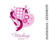 loving make up artist beauty... | Shutterstock .eps vector #653448145