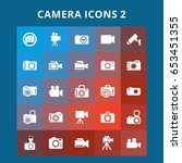 camera icons   Shutterstock .eps vector #653451355