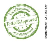 tested approved grunge stamp  ...   Shutterstock .eps vector #653451529