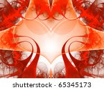 abstract art red heart  ...   Shutterstock . vector #65345173
