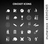 cricket icons | Shutterstock .eps vector #653452405