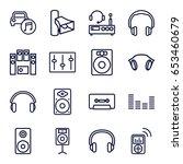 stereo icons set. set of 16...   Shutterstock .eps vector #653460679