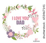 happy fathers day card design....   Shutterstock .eps vector #653467141