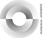lines in circle form . vector... | Shutterstock .eps vector #653468545