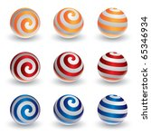 Abstract Vector Spiral Ball In...