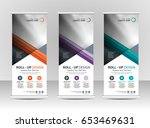 roll up banner stand template... | Shutterstock .eps vector #653469631