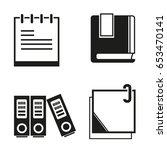 office supplies  book  memo ... | Shutterstock .eps vector #653470141