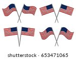 usa flags set of two.  4th july ... | Shutterstock .eps vector #653471065