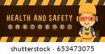 construction worker repairman ... | Shutterstock .eps vector #653473075