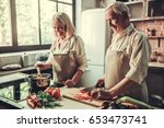 beautiful senior couple in...   Shutterstock . vector #653473741
