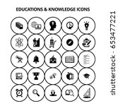 education and knowledge icons | Shutterstock .eps vector #653477221