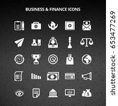 business and finance icons | Shutterstock .eps vector #653477269