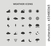 weather icons | Shutterstock .eps vector #653480365