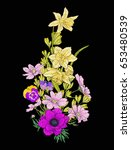 embroidery vintage flowers... | Shutterstock .eps vector #653480539