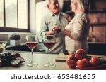 beautiful senior couple is... | Shutterstock . vector #653481655